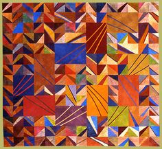 Janet Steadman, Fiber Artist and Quiltmaker from Clinton, WA: information about the artist and several galleries featuring her art quilts. Gees Bend Quilts, Geometric Solids, Scrappy Quilts, Quilting, Colorful Quilts, Square Quilt, Textile Art, Fiber Art, Quilt Patterns