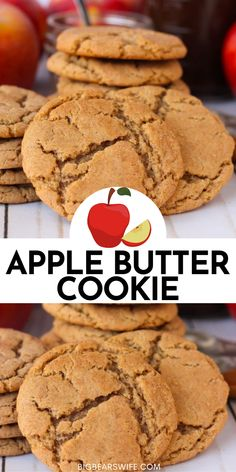 Butter Cookies Recipe, Yummy Cookies, Sugar Cookies, Apple Cookies, Cinnamon Cookies, Pudding Cookies, Fall Cookies, Baking Cookies, Brownie Cookies