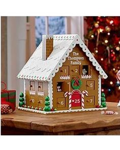 Personalized Gingerbread House Advent Calendar from Personal Creations | BHG.com Shop