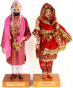 Costume Dolls of India-Punjabi Bride and Groom