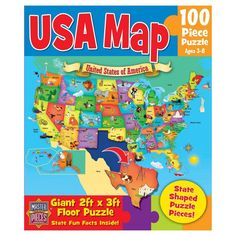 Masterpieces Educational USA Map Puzzle - 11207