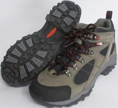 Check out this hiking gear and more here - Wenger Sz 10 Medium Xpedition Nubuck Leather/ Nylon Hiking, Trail Shoes Gray NEW