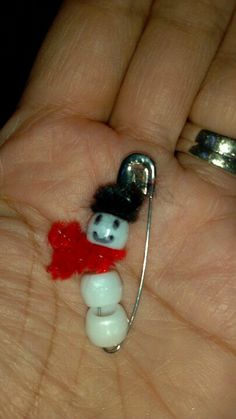 these would be cute all put together on a bracelet...Girl Scouts swap snowman