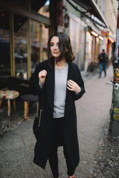 Simple black coat | @andwhatelse