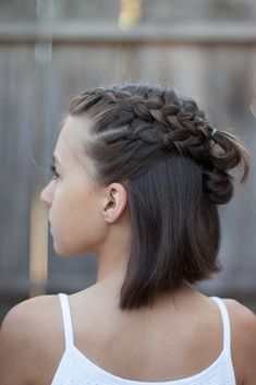 We've gathered our favorite ideas for 5 Braids For Short Hair Cute Girls Hairstyles, Explore our list of popular images of 5 Braids For Short Hair Cute Girls Hairstyles in french braid updo hairstyles. French Braid Short Hair, Short Hair Updo, Braids For Short Hair, Girl Short Hair, Short Hair Cuts, French Braids, Dutch Braids, Afro Braids, French Hair