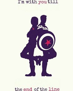 "XD Awww!!! • ""I'm with you till the end of the line."" #CaptainAmerica #SteveRogers #BuckyBarnes"