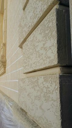 Decorative Plaster, Stucco Exterior, Wall Finishes, Travertine, Texture Painting, Textured Walls, Wall Design, Concrete, Patio