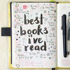 journal page idea... best books I've read