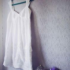 5becdf68d0 Boho VTG WHISTLES ASHLEY Broderie Anglais WHITE Summer Midi Wedding Dress  UK 10