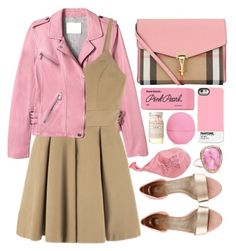 """""""Sem título #751"""" by andreiasilva07 ❤ liked on Polyvore featuring Burberry, Rebecca Taylor, H&M, Paper Mate, Pantone, Jacquie Aiche and Eos"""