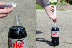 11 Mind-Blowing Things You Can Do with Coca-Cola - The Krazy Coupon Lady Cleaning With Coke, Cleaning Tips, Free Starbucks Drink, Remove Oil Stains, Cleaning Baseboards, Preschool Science Activities, Cola Drinks, Dry Well, Walgreens Photo