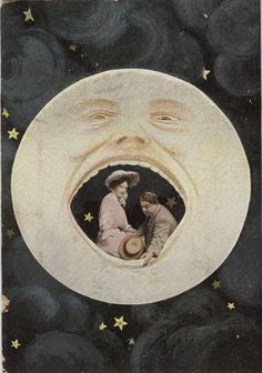 Another vintage paper moon swoon! Paper Moon, Kunst Inspo, Art Inspo, Art And Illustration, Vintage Photography, Art Photography, Constellations, Moon Photos, Moon Magic