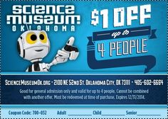 Have all the fun you can handle and save while doing it with this coupon to Science #Museum #Oklahoma.