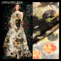 >> Click to Buy << Sold out - PRINTED SILK CHIFFON 135cm width 8momme/100% Natural Pure Silk Chiffon for sewing 2016 Spring New Lotus Women Dress #Affiliate