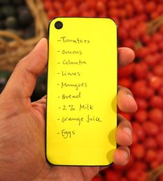 Sticky notes to pop on the back of your iPhone. So handy!