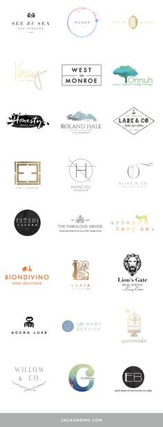 Couture Logo Design + Branding!! Ahhhh....just LOVE using different art mediums for really unique design concepts. Clean line fonts + typography, bold paint and colors, rich ink tones, watercolor, vintage, modern, upscale, gold foil... eye candy!!!