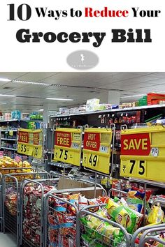 Frugal Living: 10 Ways to save on groceries and reduce your budget.