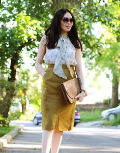 Find out what a vintage YSL skirt, 30-something dressing, & a wardrobe revamp have to do with each other in my latest outfit post