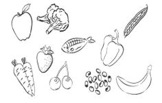 Type Healthy Food Coloring Page For Kids