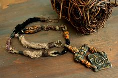 Tribal Jewelry by Etinifni Creations - #Primitive #Handmade #Metalwork #OOAK #Jewelry #Artisan #Macrame #Necklace