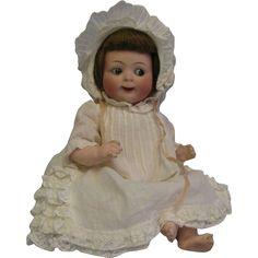 "10"" Early Doll JUBILEE GOOGLY Hertel & Schwab #165 Original HH Wig & from turnofthecenturyantiques on Ruby Lane"