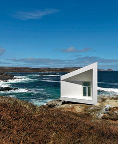 Minimalist Artist's Cottage by Todd Saunders / located on Fogo Island - off the coast of Newfoundland