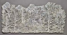 tree in embroidery trowymiarowym Brazilian Embroidery Stitches, 3d Tree, Trees, Tree Structure, Home Decor Trees, Wood