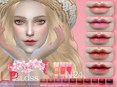 s - the best: lipstick by s-club die sims, anime, sims 4 mod My Sims, Sims Cc, The Sims 4 Skin, Anime Hairstyles Male, Mod Hair, Sims 4 Cc Kids Clothing, Lunch Boxe, Anime Makeup, Sims 4 Cc Makeup