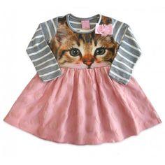 Vestido Infantil Gatinha com Saia de Tule