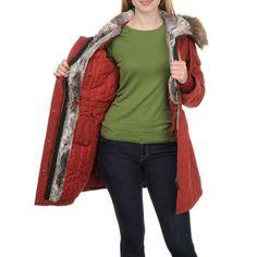 1 Madison Ladies' Anorak Jacket with Detachable Hood-Red