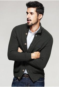 Casual Slim Fit Cardigan For Men. Shop Now