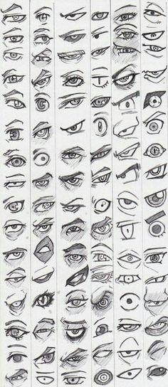 Muitos olhos famosos para referência
