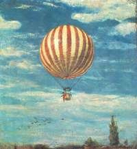 'The Balloon' Painting Astoria Grand Format: Wrapped Canvas, Size: 60 cm H x 55 cm W x cm D Lucky Luke, Framing Canvas Art, Oil On Canvas, Canvas Prints, Canvas Size, Balloon Painting, Cloud Art, Grand Format, The Balloon