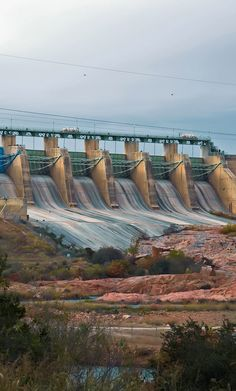 Buchanan Dam. Texas. Buchanan Dam the largest multi-arch dam in the world.