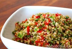 Delightful cold salad or entree for hot weather. The herbs give this a refreshing taste. Can be made without the shrimp for a vegetarian meal. Food For Thought, Salad Master Recipes, Hot Weather Meals, Barley Salad, Dinner Side Dishes, Main Dishes, Shrimp Salad, Vegan Dishes, International Recipes