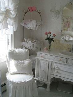 Shabby Chic Vintage White Dream Linen  fabric by Rachell Ashwell Cloud Linen. $18.00, via Etsy.
