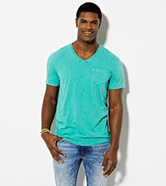 Emerald AE Vintage V-Neck T-Shirt