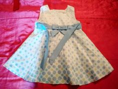 Toddler Baby Girl 18 mths Easter Polka Dot Blue White Sleeveless Tutu Dress
