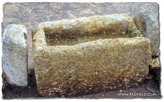 An ancient manger found at Megiddo in Israel, from the time of King Ahab. A manger is a feed trough found in a stable.
