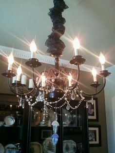 The chandelier saga diy before and after pictures chandeliers diy chandelier aloadofball Gallery