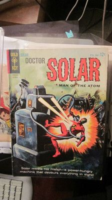 Dr. Solar began in Gold Key Comics in the 1960's and had a resurgence when Valiant Comics began to publish them in the 1990's).  A great character and comic series then and more recently.  I even have original comic art from Valiant for sale at http://graphic-illusion.com (Now 50 years later Solar is the best idea for energy and power for this planet).
