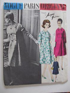 Vogue Paris Original Jacques Heim 1165 Flared Coat & Scarf 60's w/Label UNCUT