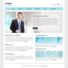 48 best free business html templates images on pinterest html avant is a fresh clean neat and professional free bootstrap corporate site template for those who are going to build business or corporate website wajeb Choice Image