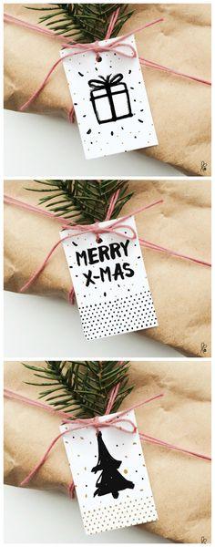 Printables für weihnachtliche Geschenkanhänger, Weihnachtsdeko / printables for christmas gift tags, wrapping gifts made by sppiy via DaWanda.com