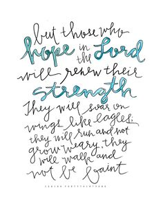 Isaiah 40:31 | Hope In The Lord