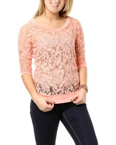 rue21 Lace Raglan. $18.99  I have the blue one and I love it!
