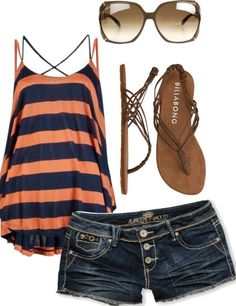 Love the tank top. I also am in the need of new jean shorts!