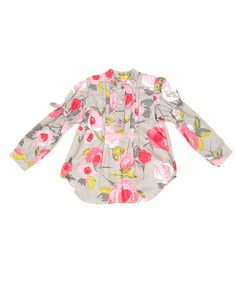 Grey Floral Blouse - Girls by Pan con Chocolate on #zulilyUK today!