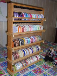 craft room sewing room ideas | Craft and Sewing Room Ideas / from a DVD rack