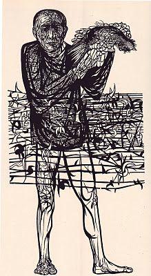 Leonard Baskin woodblock